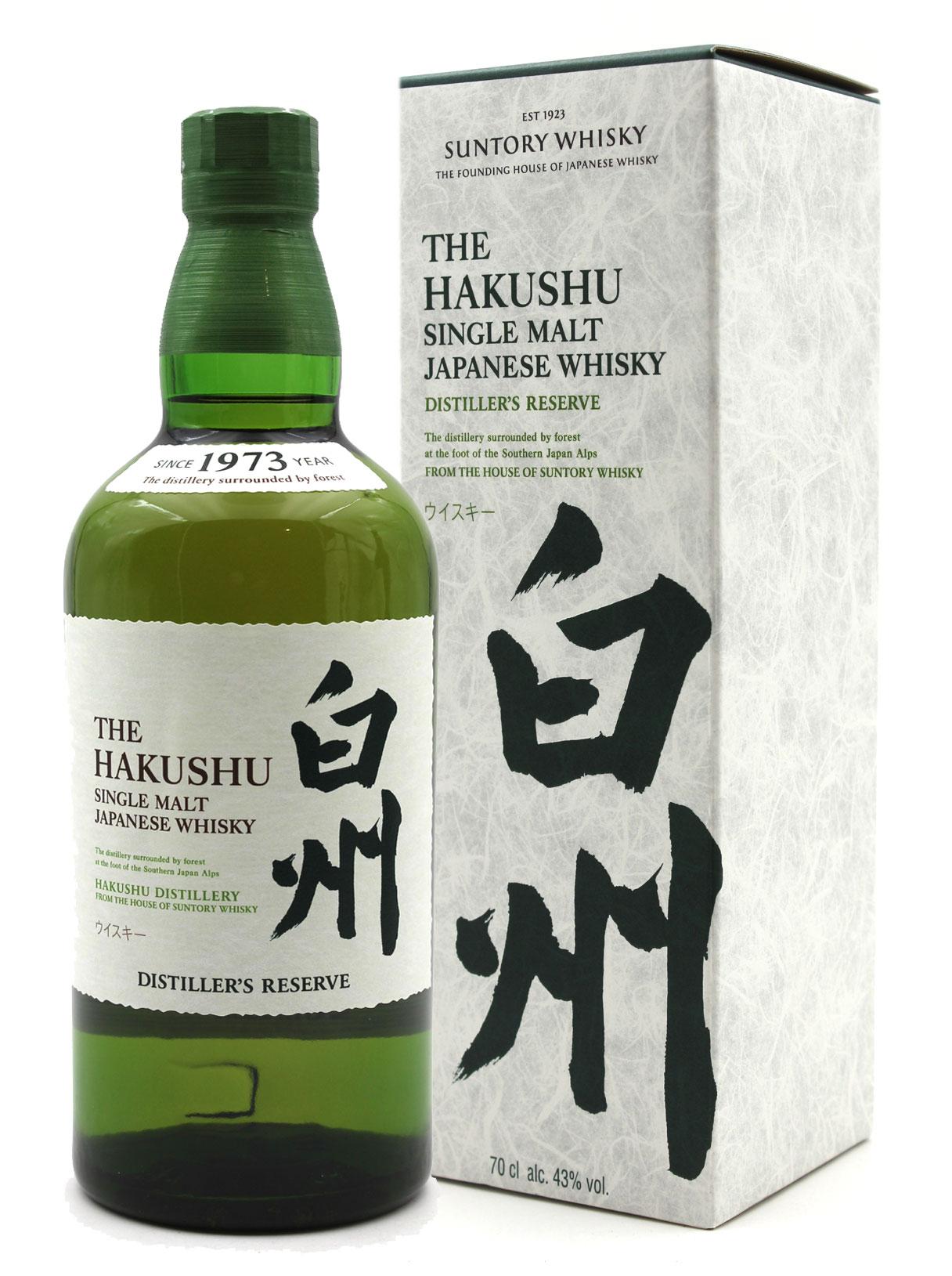Hakushu Distiller\'s Reserve Suntory Whisky Japanese 43% - 70cl