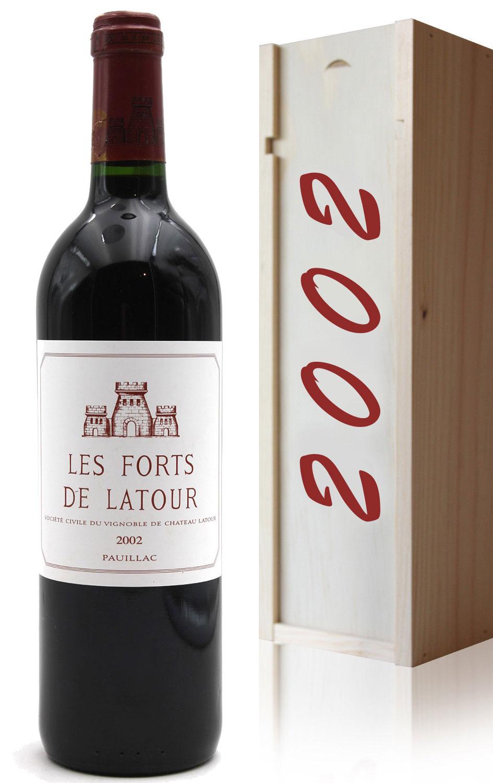 Coffret Château Les Forts de Latour 2002 - 75cl AOC Pauillac