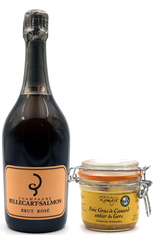 Box Champagne Billecart-Salmon Rosé & Foie Gras
