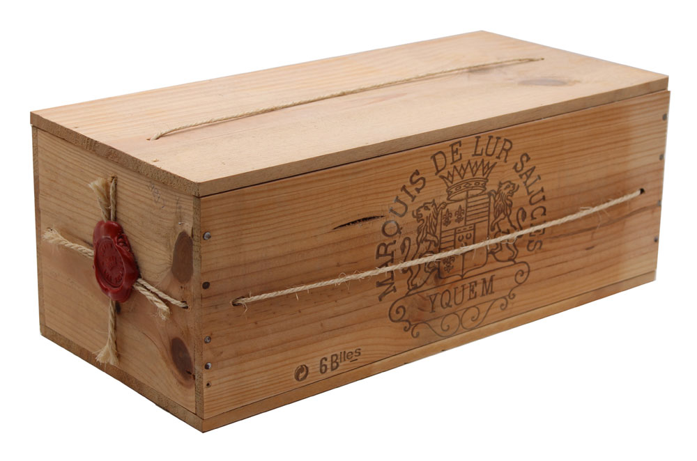 Caisse bois 6 bouteilles Château D\' Yquem 1989 - 75cl AOC Sauternes