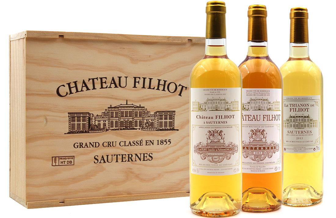 Coffret Découverte Filhot & Trianon 2003, 2007, 2013 Vin Blanc 75cl AOC Sauternes