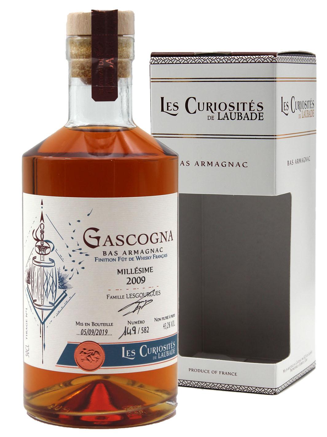 Gascogna 2009 - AOC Bas Armagnac - Les Curiosités de Laubade - 50cl
