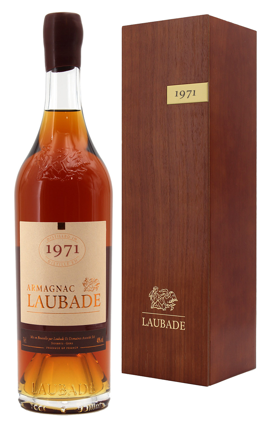 Armagnac Château de Laubade 1971  - 70cl