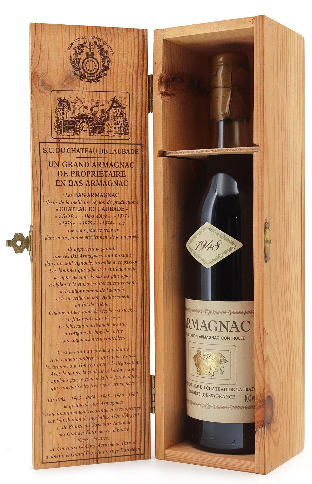 Armagnac Laubade 1948 - 70cl
