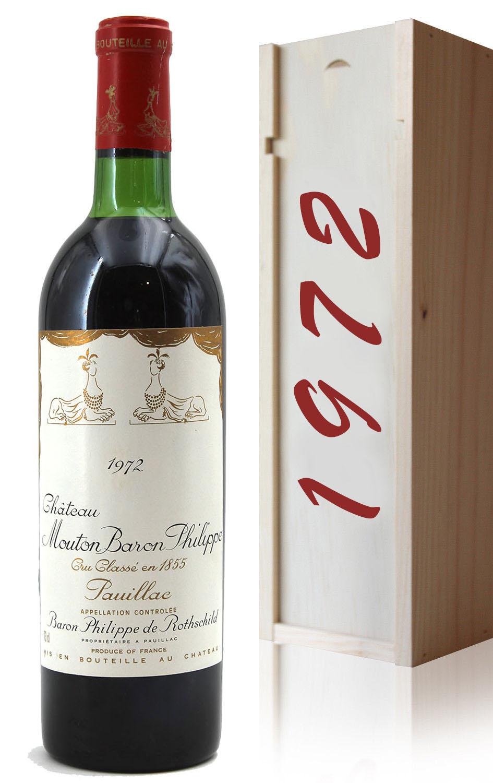 Mouton Baron 1972 BG gift