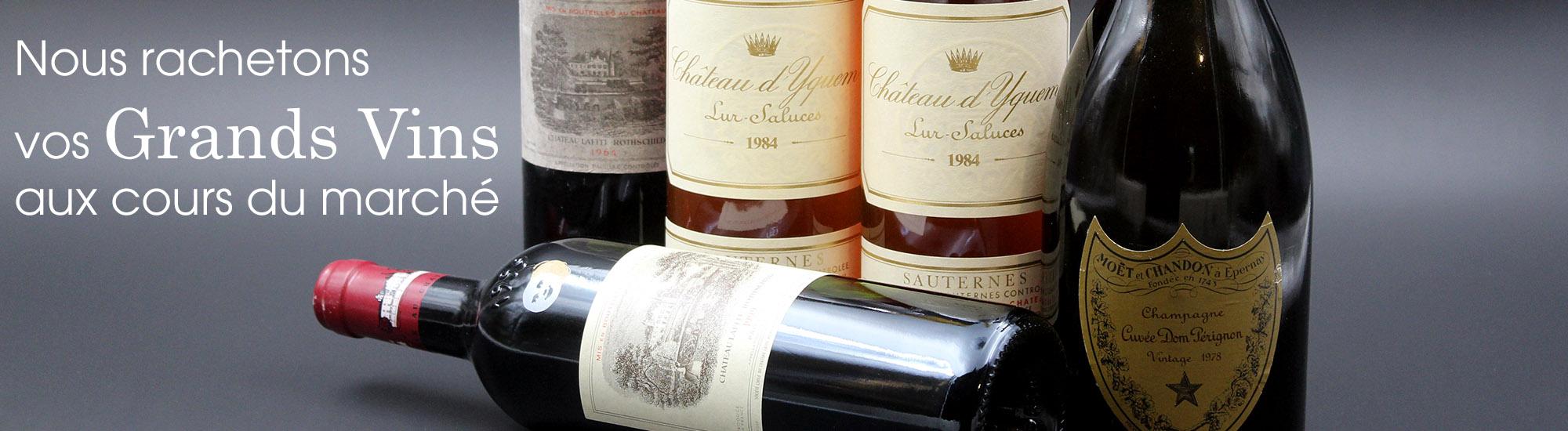 Vendez vos vins, Stephconti rachete vos grands vins ou votre cave aux cours du marché