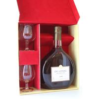 COFFRET 2 verres ARMAGNAC DE LOYAC - 1969 - 70cl