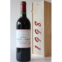 COFFRET CHÂTEAU LYNCH BAGES 1998 Rouge 75cl AOC Pauillac