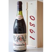 """COFFRET CHÂTEAUNEUF - DU - PAPE 1980 Domaine """"Le père Caler"""" 75cl AOC"""