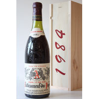 """COFFRET CHÂTEAUNEUF - DU - PAPE 1984 Domaine """"Le père Caler"""" 75cl AOC"""