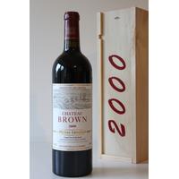 Coffret Château Brown 2000  Rouge 75cl AOC Pessac Léognan