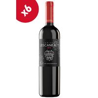 x6 Château Lescaneaut 2012 Bio Rouge 75cl AOC Bordeaux