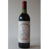 CHÂTEAU LE BERGER  BARON 1983  Rouge 75cl AOC Bordeaux