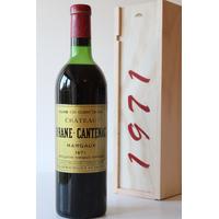 COFFRET CHÂTEAU BRANE CANTENAC 1971 Rouge 75cl AOC Margaux