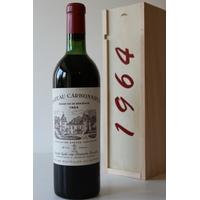Coffret Château Carbonnieux 1964 Rouge 75cl AOC Péssac-Léognan