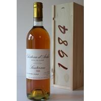 Coffret Château D'Arche 1984 Blanc 75cl AOC Sauternes