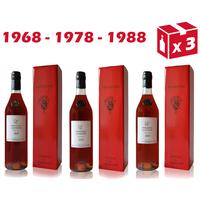 Armagnac Château De Cassaigne - 1968 - 1978 - 1988 - 70cl