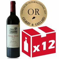 x12 Château Lacoste Garzac 2016 - Médaille d'or Gilbert Gaillard - Rouge 75cl AOC Bordeaux