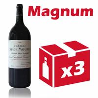 x3 Château Cap de Mourlin 1996 Rouge 150cl AOC St Émilion