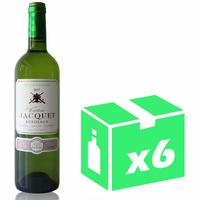 X6 Château Jacquet 2017 - 75cl - Blanc sec - AOC - Bordeaux