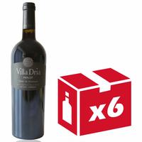x6 Villa Dria Merlot Rouge - 75cl - AOC - Côtes de Gascogne