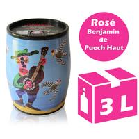 Cubi Bib' Art - Le Benjamin de Puech Haut - Rosé - 3l - IGP - Languedoc Roussillon