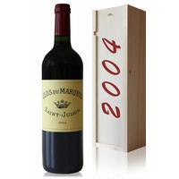 Coffret Château Clos du Marquis 2004 Rouge 75cl AOC Saint Julien