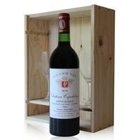 Coffret Château Capdelong 1978 + 2 verres Rouge 75cl AOC Saint-Julien