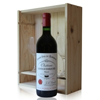 Coffret Château Lestage Darquier 1978 + 2 verres Rouge 75cl AOC Moulis