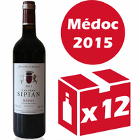 x12 Château Sipian 2015 Rouge 75cl AOC Médoc