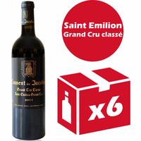 x6 Château Couvent des Jacobins 2011 Rouge 75cl AOC Saint Émilion
