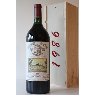 Coffret Château Dauzac 1986 Magnum Rouge 150cl AOC Margaux