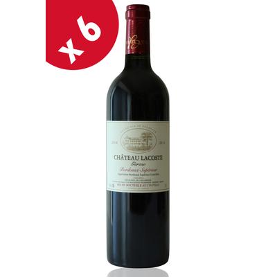 x6 Château Lacoste Garzac  2014  Rouge 75cl AOC Bordeaux Supérieur