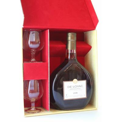 Coffret 2 Verres Armagnac De Loyac - 1968 - 70CL