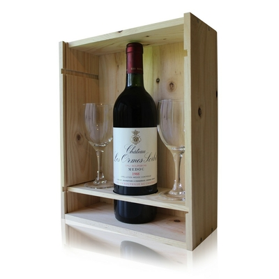 Coffret Château Les Ormes Sorbet 1988 + 2 verres Rouge 75cl AOC Médoc