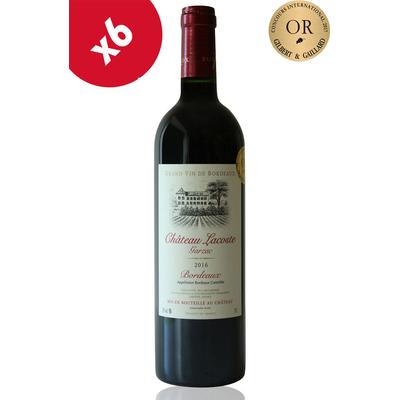 x6 Château Lacoste Garzac 2016 - Médaille d'or Gilbert Gaillard - Vin Rouge 75cl AOC Bordeaux