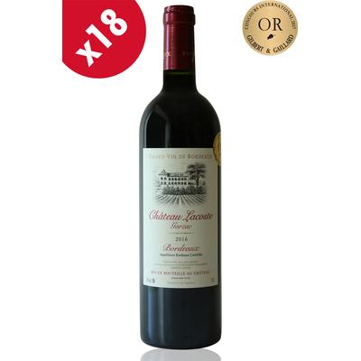 x18 Château Lacoste Garzac 2016 - Médaille d'or Gilbert Gaillard - Rouge 75cl AOC Bordeaux