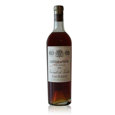 Château Rayne Vigneau 1933 Blanc 75cl AOC Sauternes