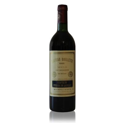 Château Brillette 1985 Rouge 75cl AOC Moulis