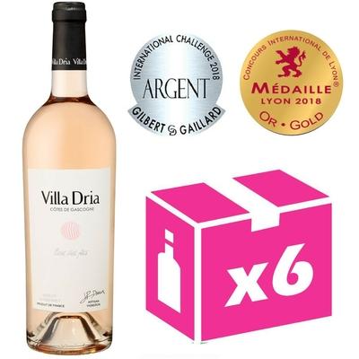 x6 Villa Dria Fleur des Fées - Rosé - 75cl - IGP Côtes de Gascogne