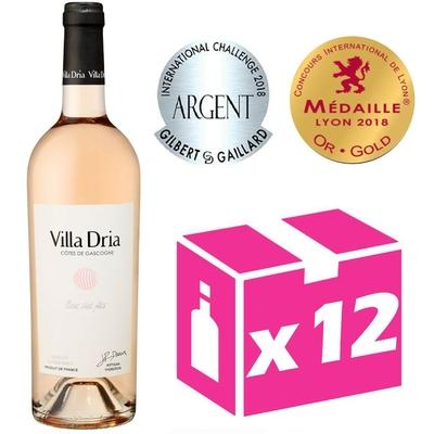 x12 Villa Dria Fleur des Fées - Rosé - 75cl - IGP Côtes de Gascogne