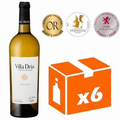 x6 Villa Dria Jardin Secret - Blanc Moelleux - 75cl - IGP Côtes de Gascogne
