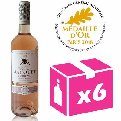 X6 Château Jacquet 2017 - 75cl - Rosé - AOC - Bordeaux