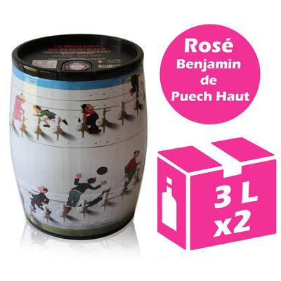 x2 Cubi Bib' Art - Le Benjamin de Puech Haut - Rosé - 2x3l - IGP Languedoc Roussillon