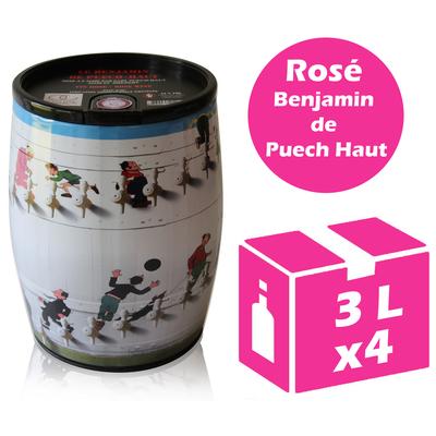 x4 Cubi Bib' Art - Le Benjamin de Puech Haut - Rosé - 2x3l - IGP Languedoc Roussillon