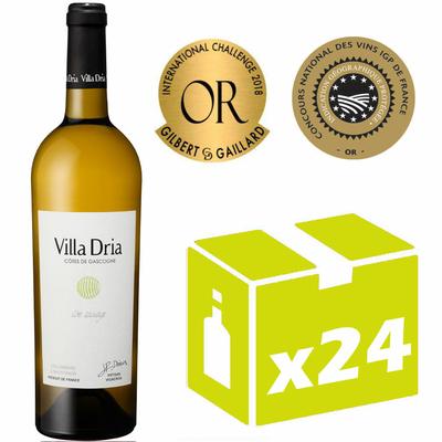 x24 Villa Dria Côte Sauvage - Blanc - 75cl - IGP Côtes de Gascogne