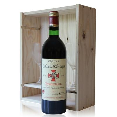 Coffret Château La Croix Saint Georges 1978 + 2 verres - Rouge - 75cl - AOC Pomerol
