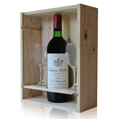 Coffret Château Montrose 1976 + 2 verres Rouge 75cl AOC Saint Estephe