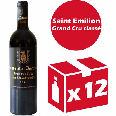 x12 Château Couvent des Jacobins 2011 Rouge 75cl AOC Saint Émilion