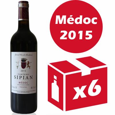 x6 Château Sipian 2015 Rouge 75cl AOC Médoc